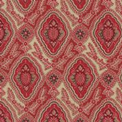 Moda Rue Indienne by French General - 3617 - Arabelle, Traditional Stylised Floral, Red - 13684 11